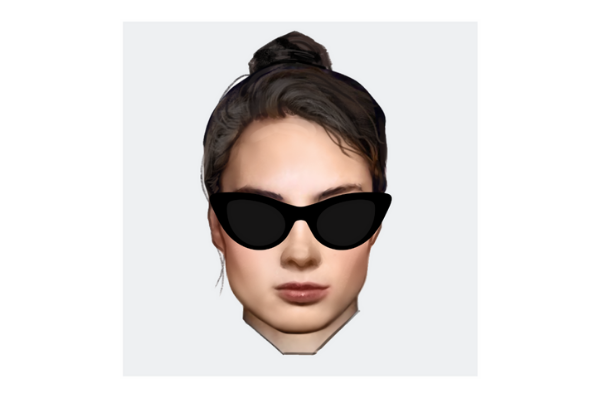Square Face shape with cat-eye sunglasses