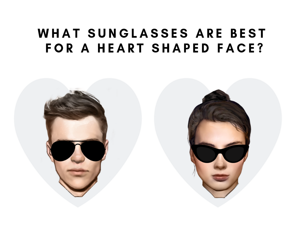 d42d4c360c What Are Ideal Sunglasses For a Heart Shaped Face