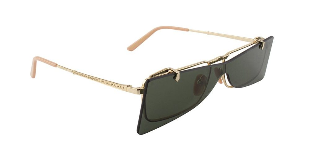 4156690b2bc About the Gucci GG0363S Flip-Up sunglasses  These designer frames feature  metal square-frame with a rimless flip-up detail. The Gucci s rectangular  GG0363S ...